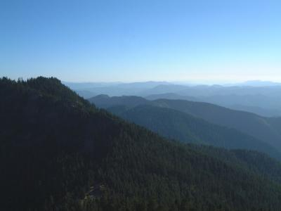 Looking S at Bohemia Mt. from Fire Tower